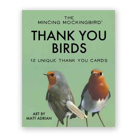 Boxed Cards The Mincing Mockingbird Thank You Birds Assortment