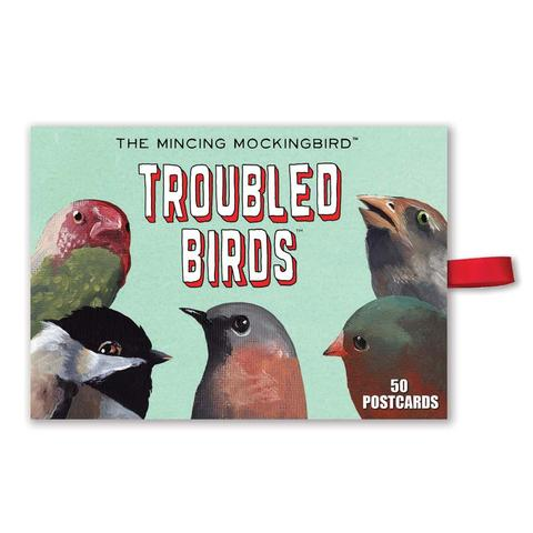 Boxed Postcards The Mincing Mockingbird Troubled Birds Assortment