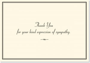 Small Boxed Thank You Cards Sympathy