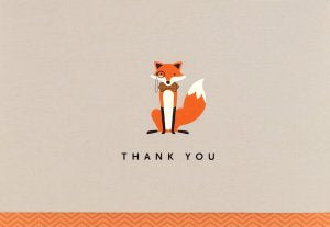 Small Boxed Thank You Cards Dapper Fox