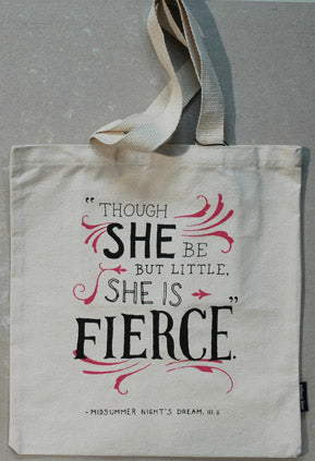 Tote Bag Shakespeare's Fierce