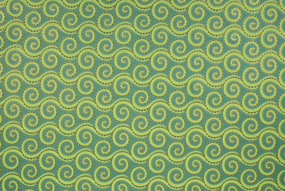Indian Print Trailing Tentacles Green