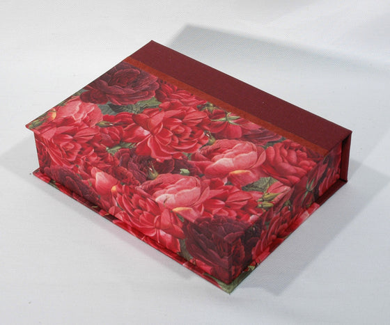 Box Hinged Lid Small - Red & Wine Roses