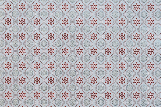 Italian Letterpress Snowflakes Red & Gold