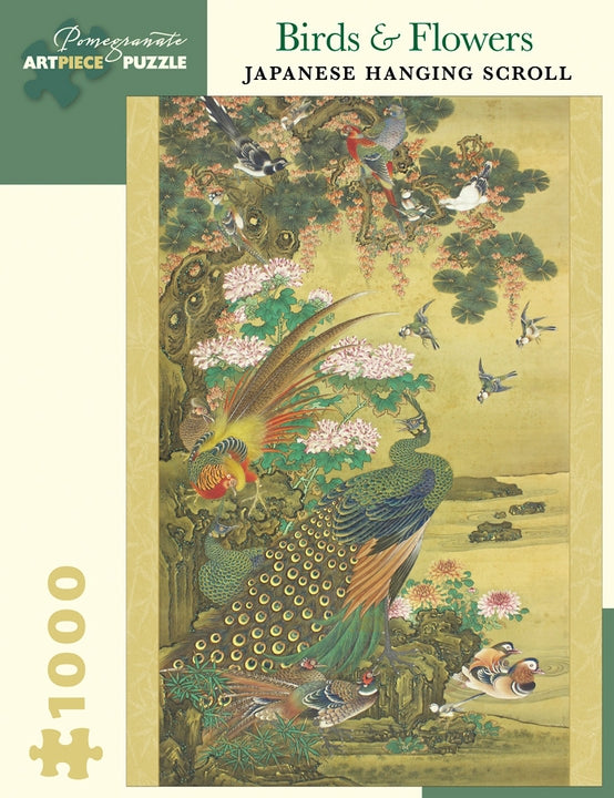 Jigsaw Puzzle Birds & Flowers Japanese Hanging Scroll - 1000 Piece