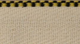 Headband Black & Yellow Cotton Check