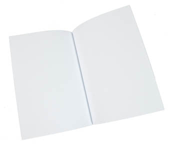 Text Block - Journal Blank Large Set of Five WHITE Pages