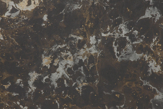Indian Marble Exotic Gold/Silver on Black