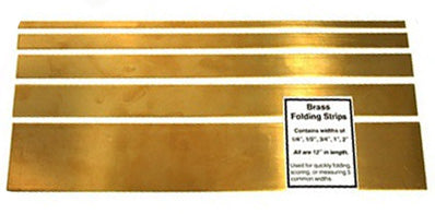 Brass Folding Strips Set of Five