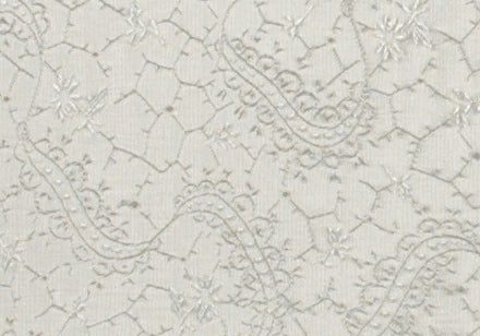 Japanese Bookcloth White Brocade