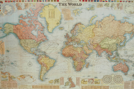 Florentine Print Map of the World GW Bacon