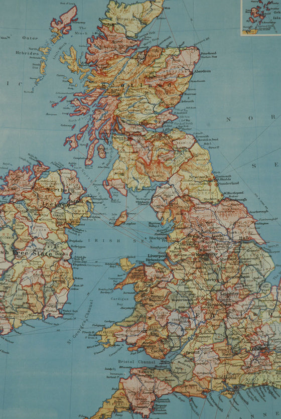 Florentine Print Map of British Isles
