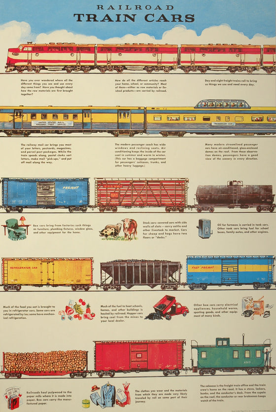 Florentine Print Railroad Cars