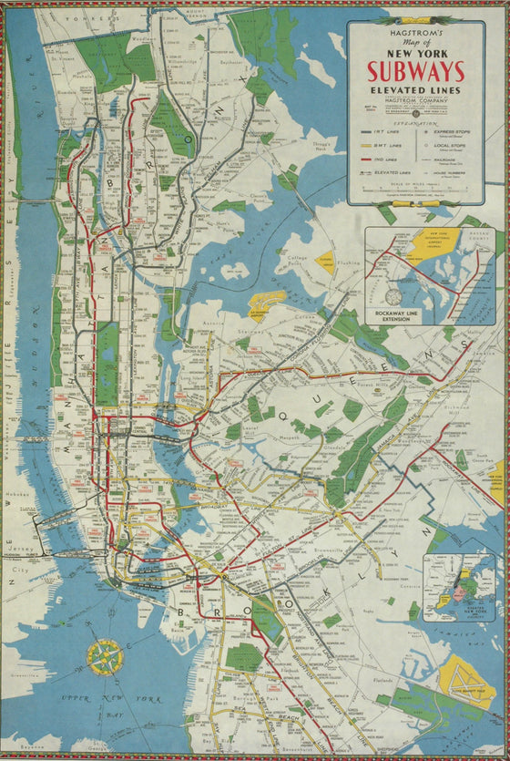 Florentine Print New York City Subway Map