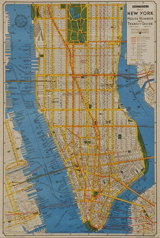 Florentine Print Map of New York City