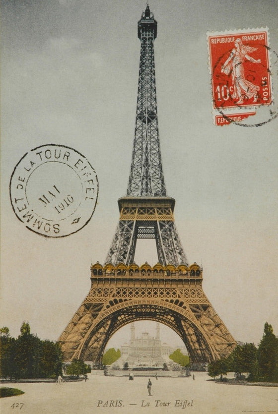 Florentine Print Eiffel Tower Vertical