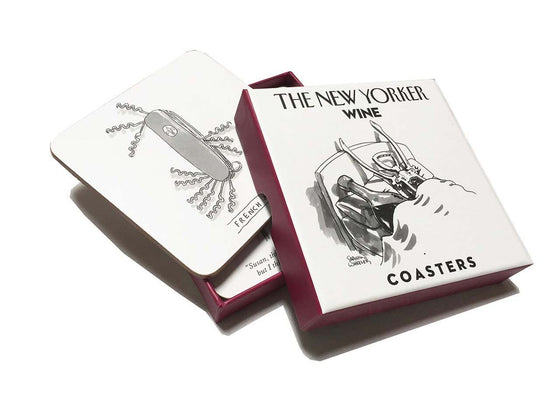 Coaster Set of 4 New Yorker Wine