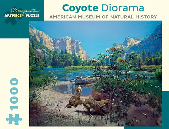 Jigsaw Puzzle Coyote Diorama - 1000 Piece