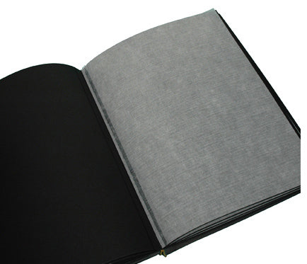 Text Block - Photo Album Large Portrait Black 30 Pages Set of Five
