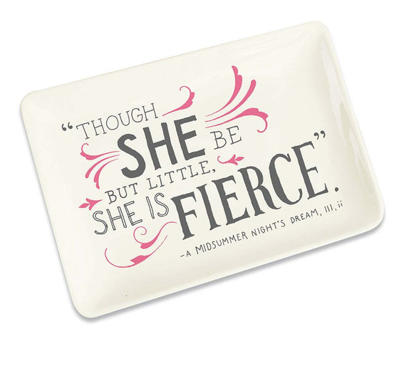 Trinket Tray Shakespeare Fierce
