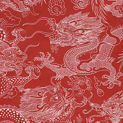 Lokta Dragon Beasts on Red