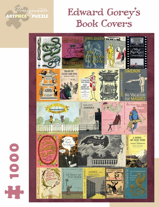 Jigsaw Puzzle Gorey Book Covers - 1000 Piece