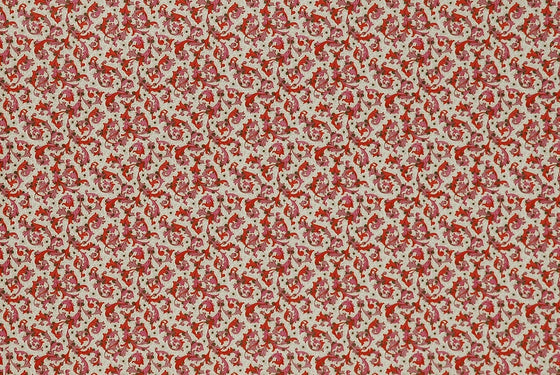 Florentine Print Traditional Red