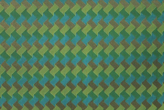 Indian Print Optical Circuitry Green, Turquoise