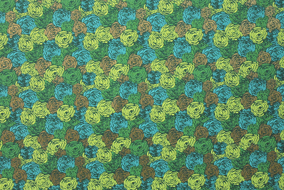 Indian Print Carpet of Roses Greens
