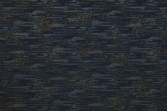 Chiyogami Navy with Gold Squares & Lines