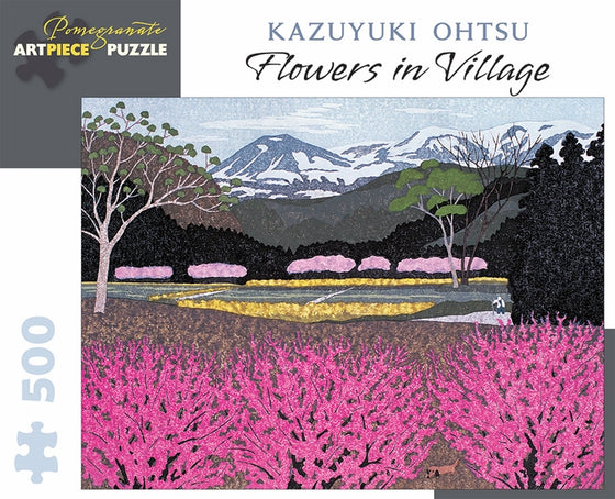 Jigsaw Puzzle Ohtsu Flowers in Village - 500 Piece