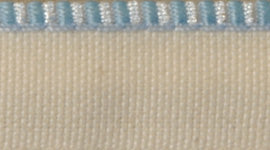 Headband Light Blue & White Silk