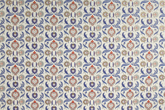 Florentine Print Arabesque Blue/Red
