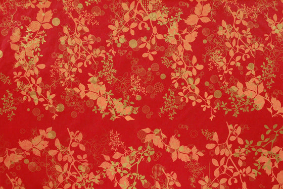 Screenprint Chinaberry Red
