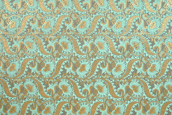 Indian Print Tapestry Mint & Gold