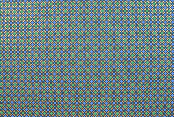 Indian Print Diagonal Plaid Blue & Green