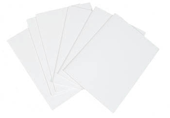 Unsewn Signatures - Large Blank WHITE Pages (6)