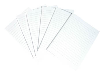 Unsewn Signatures - Large Lined WHITE Pages (24)