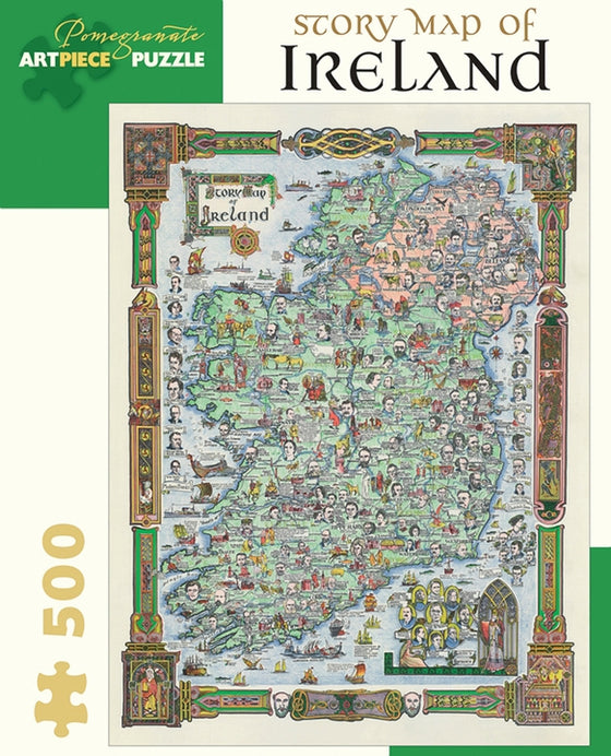 Jigsaw Puzzle Story Map of Ireland - 500 Piece
