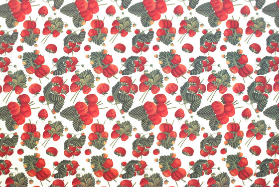 Florentine Print Strawberries