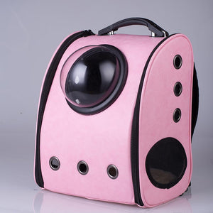 Pink Space Cat Carrier