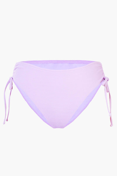Lilac High-waisted Drawstring Bikini Bottom
