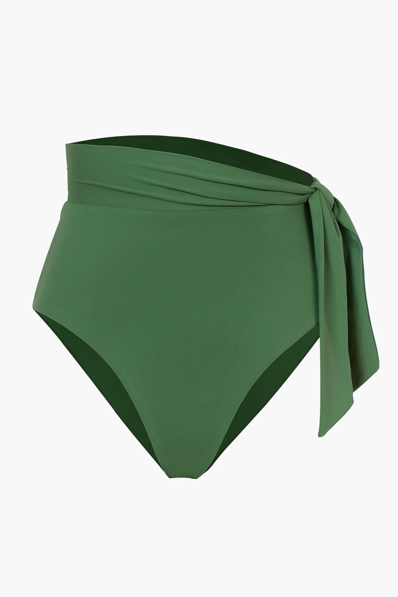 Fun Tie-side Avocado Green Bikini Bottom