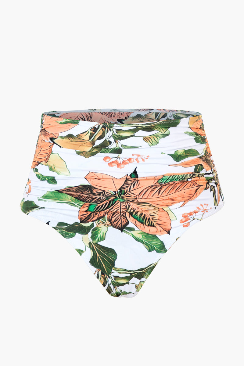 Floral High-waisted Bikini Bottom