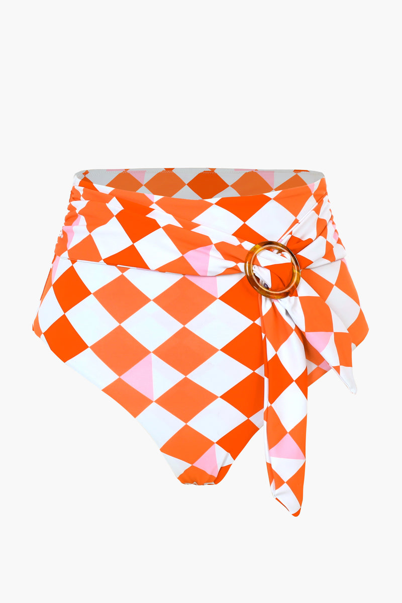 Pink and Red Gingham Bikini Bottom