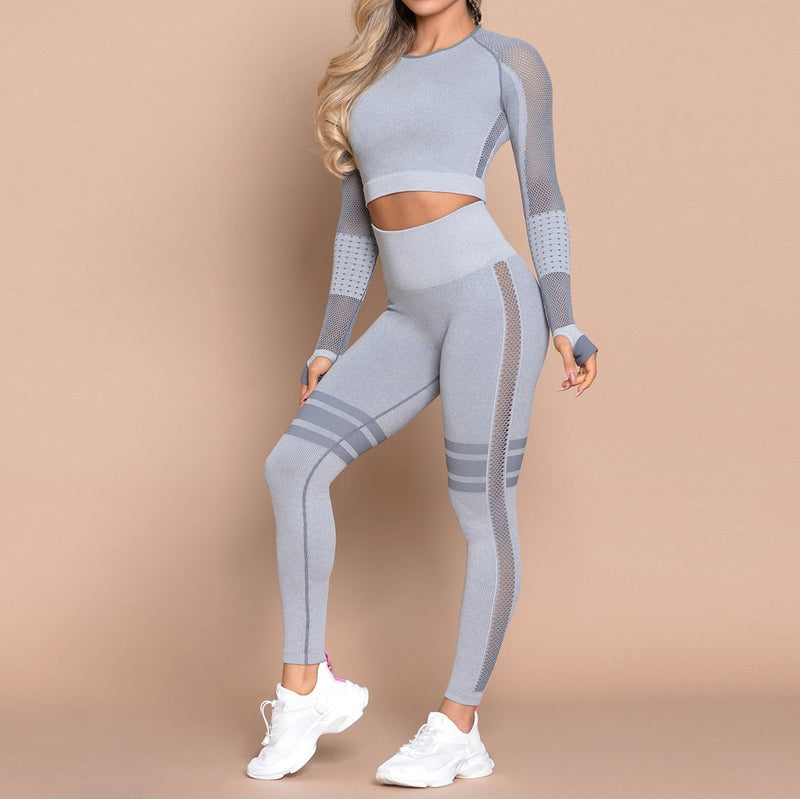Stried Long Sleeve Workout Yoga Set