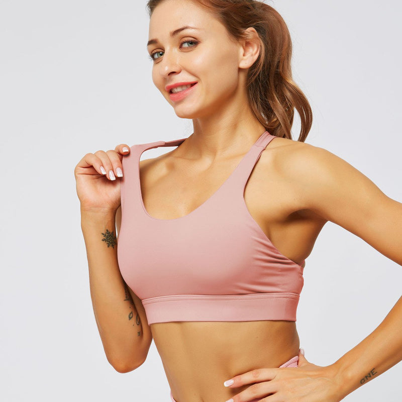 Strappy High Support Sports Bra