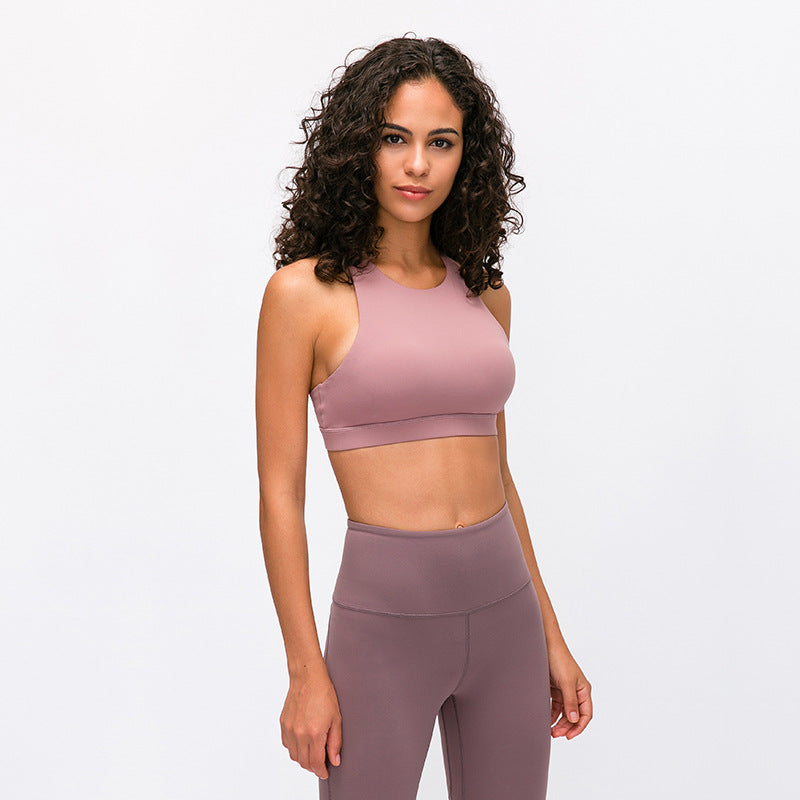 High Neck Scoop Sports Bra