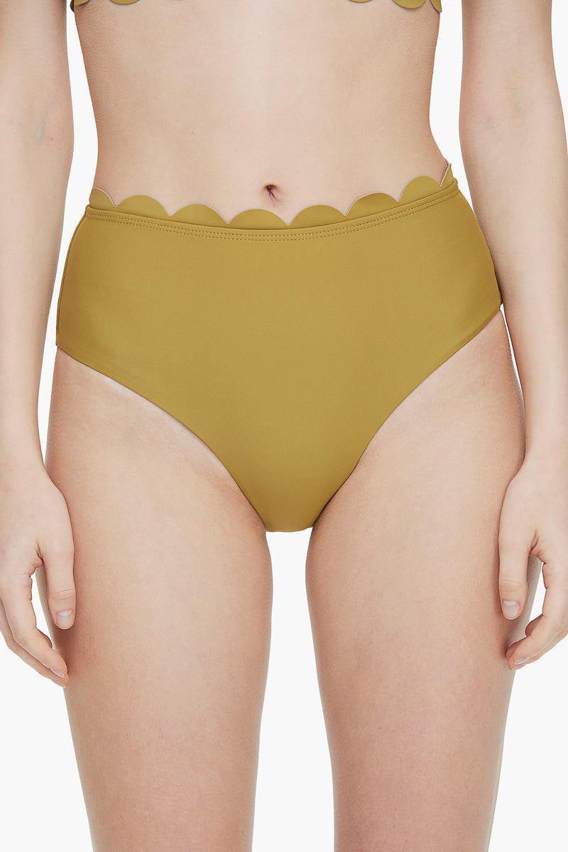 Sweet Scallop-edged Bikini  Bottom