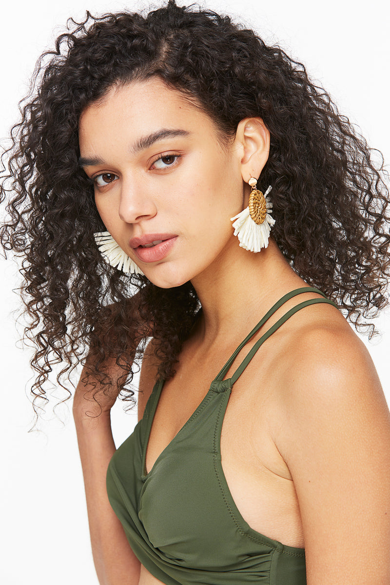 Light-weight Boho Rattan Earrings